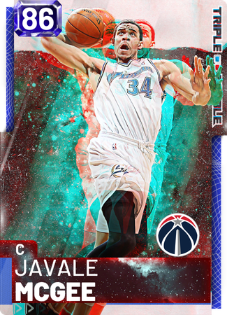'18 JaVale McGee sapphire card