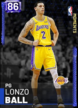 Lonzo Ball sapphire card