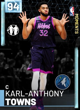 Karl-Anthony Towns diamond card