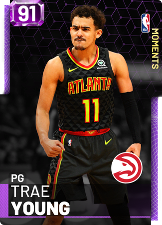 Trae Young amethyst card