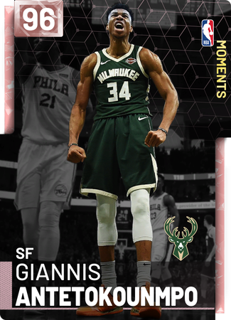 Giannis Antetokounmpo pinkdiamond card