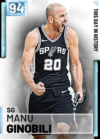 '05 Manu Ginobili diamond card