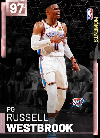Russell Westbrook pinkdiamond card