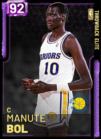 '87 Manute Bol amethyst card