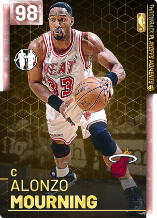 '95 Alonzo Mourning pinkdiamond card