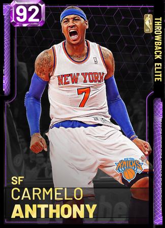 '12 Carmelo Anthony amethyst card