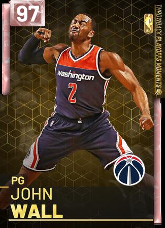 '18 John Wall pinkdiamond card