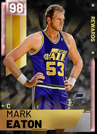 '83 Mark Eaton pinkdiamond card