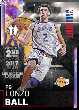 Lonzo Ball opal card