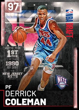 '05 Derrick Coleman pinkdiamond card