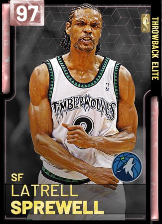 '04 Latrell Sprewell pinkdiamond card