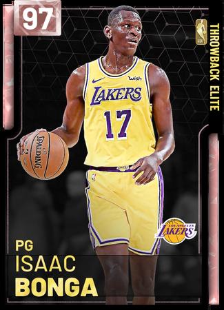 Isaac Bonga pinkdiamond card