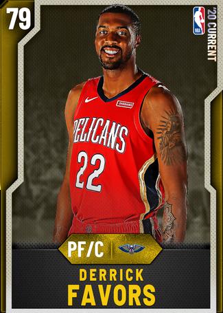 Derrick Favors gold card