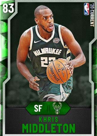 Khris Middleton emerald card