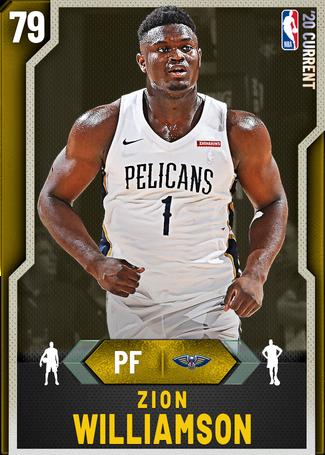 Zion Williamson gold card