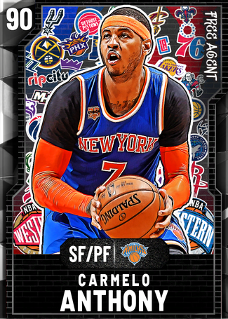 '12 Carmelo Anthony onyx card