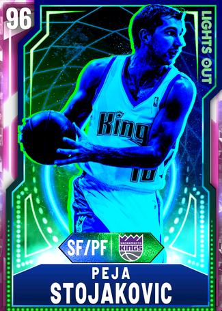 '11 Peja Stojakovic pinkdiamond card