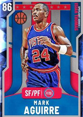 '94 Mark Aguirre sapphire card