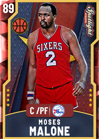 '95 Moses Malone ruby card