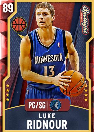 Luke Ridnour ruby card