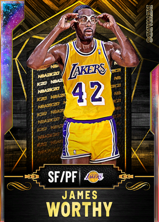 '94 James Worthy opal card