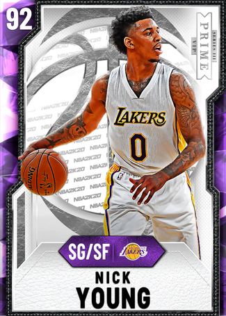 '10 Nick Young amethyst card