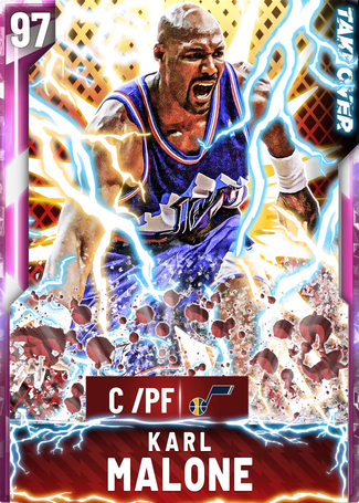 '04 Karl Malone pinkdiamond card
