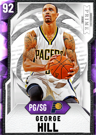'14 George Hill amethyst card