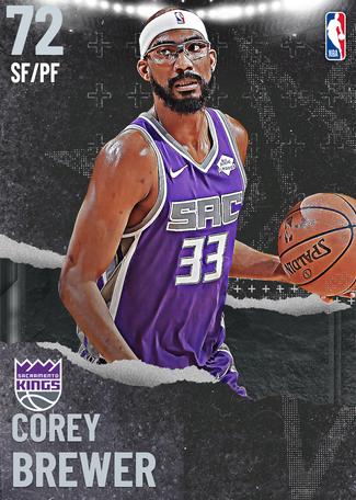 Corey Brewer silver card