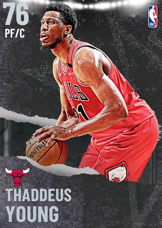 Thaddeus Young silver card