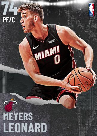 Meyers Leonard silver card