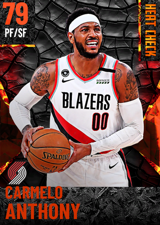 Carmelo Anthony fire card