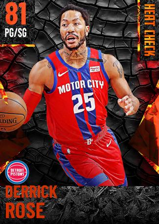 Derrick Rose fire card
