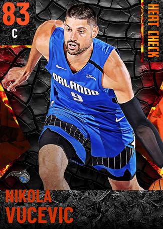Nikola Vucevic fire card