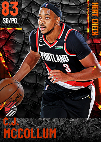 C.J. McCollum fire card