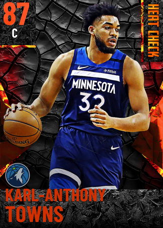 Karl-Anthony Towns fire card