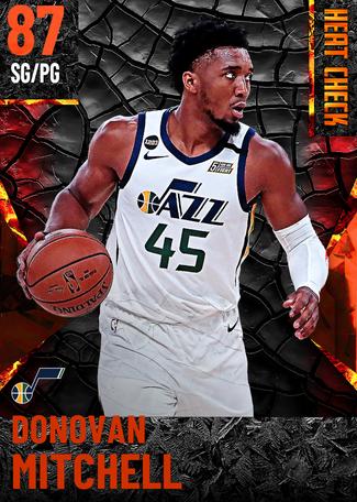Donovan Mitchell fire card