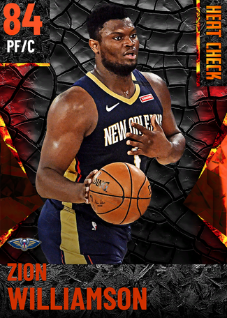 Zion Williamson fire card