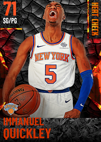 Immanuel Quickley fire card