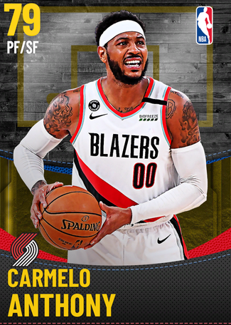 Carmelo Anthony gold card