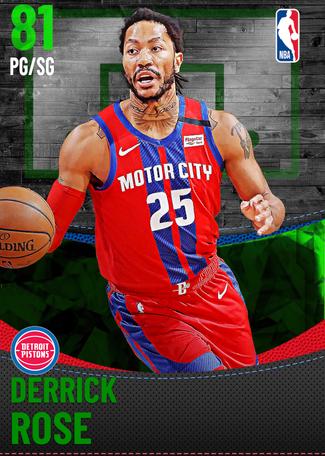 Derrick Rose emerald card