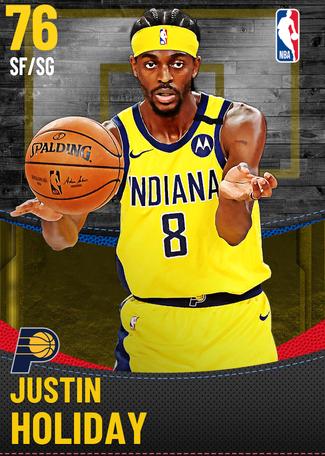 Justin Holiday gold card