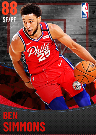 Ben Simmons ruby card