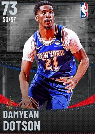 Damyean Dotson silver card