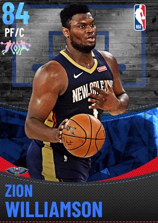 Zion Williamson sapphire card