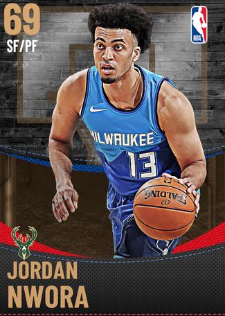 Jordan Nwora bronze card