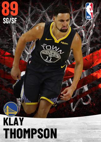 Klay Thompson ruby card