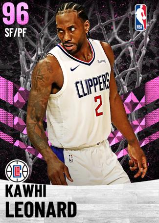 Kawhi Leonard pinkdiamond card