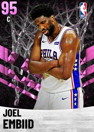 Joel Embiid pinkdiamond card