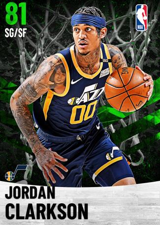 Jordan Clarkson emerald card